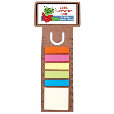 Picture of Business Card Bookmark / Ruler with Noteflags