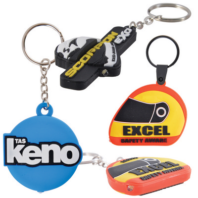 Picture of PVC Custom Shape Moulded LED Keytag Torch