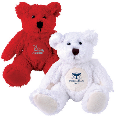 Picture of Zoe (Red) and Snowy (White) Plush Teddy Bear