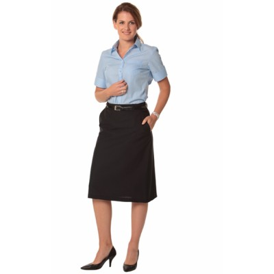 Picture of Ladies Poly/Viscose Stretch A-line Utility Lined Skirt