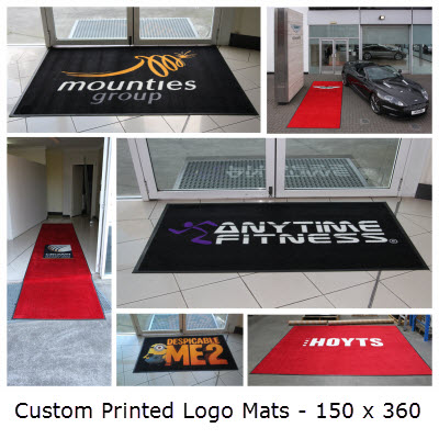 Picture of Custom Printed Logo Mats - 150 x 360