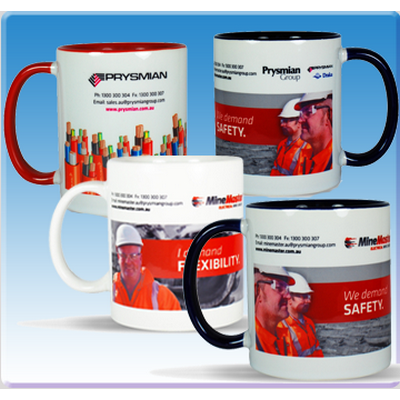 Picture of Sublimation Mug Full colour - White/Black