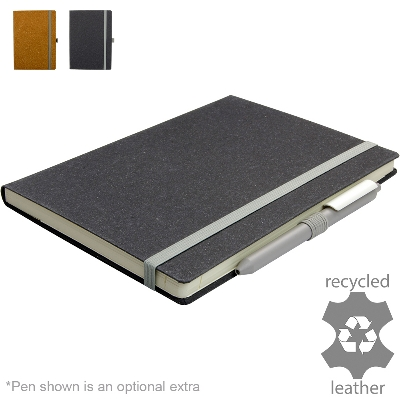Picture of Darwin Recycled Leather Ruled A5 Notebook