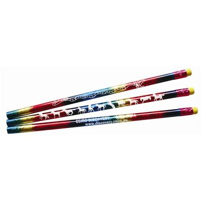 Picture of Rainbow Holographic Pencil Pencil-unsharppened