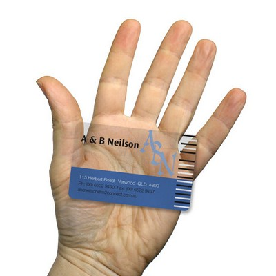 Picture of Clear Transparent Business Cards