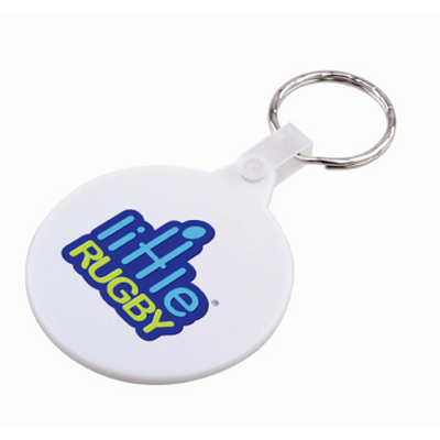 Picture of Round Hard Plastic Keyring