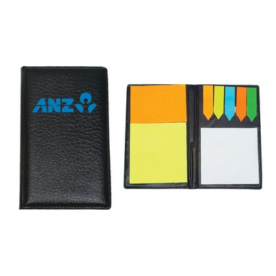 Picture of PU Leather Padfolio With Sticky Notes & Flags