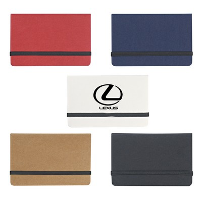 Picture of Sticky Notes And Flags In Business Card Case