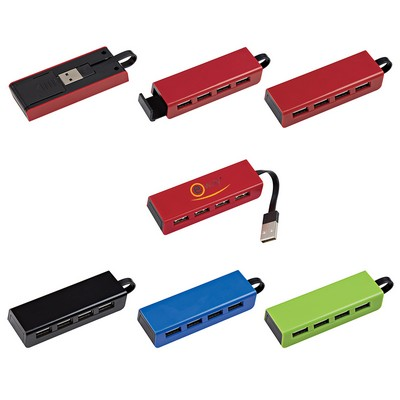 Picture of 4-Port Travel USB Hub With Phone Stand