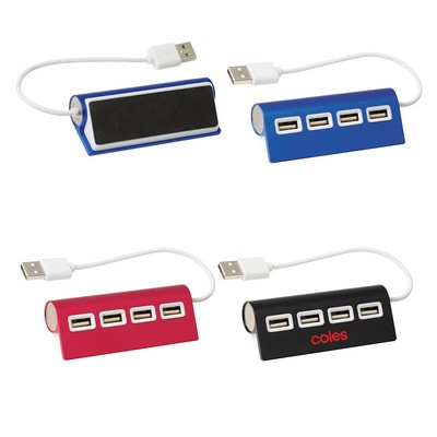 Picture of 4-Port Aluminum Wave USB Hub