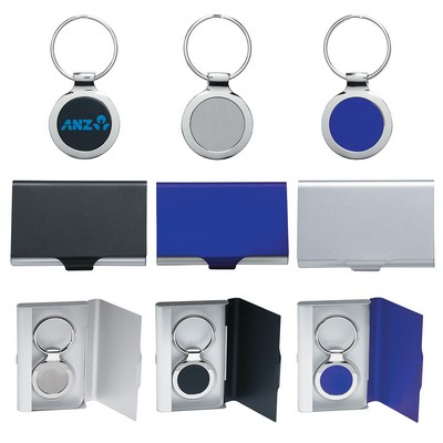 Picture of 2-In-1 Key Ring/Business Card Holder
