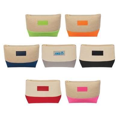 Picture of Jute/Canvas Cosmetic Bag