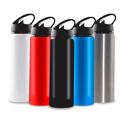 Picture of 750ml Aluminium Water Bottle with Straw