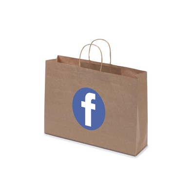 Picture of Kraft Paper Bag Brown Landscape Includes Twisted Paper Handle