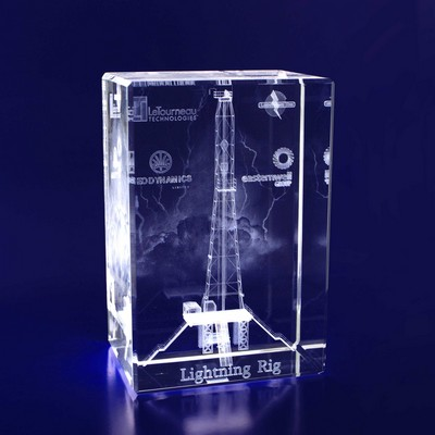 Picture of 3D Crystal Rectangle award / paper weight
