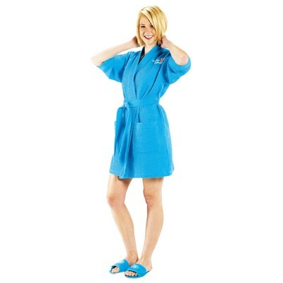 Picture of Waffle Weave Short Kimono Robe