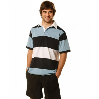 Picture of Mens Short Sleeve 3 Tone Rugby Top