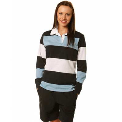 Picture of Ladies Long Sleeve Rugby Top