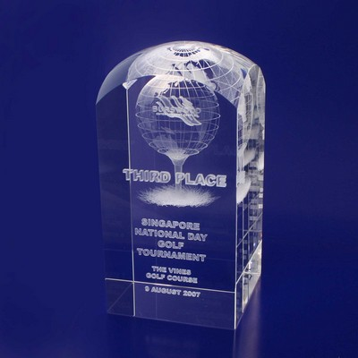 Picture of 3D Crystal Rectangle Dome award / trophy