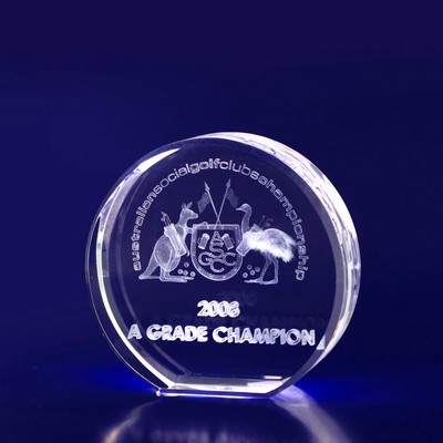 Picture of 3D Crystal Round award / paperweight