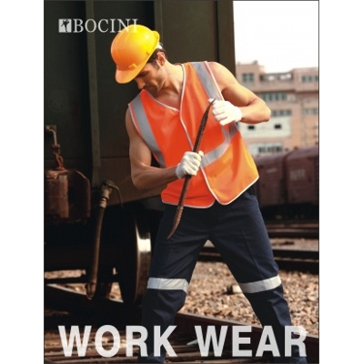 Picture of Unisex Adults Hi-Vis Vest With Crossing Tape