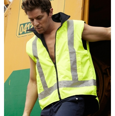 Picture of Unisex Adults Hi-Vis Reversible Vest With Reflective Tape