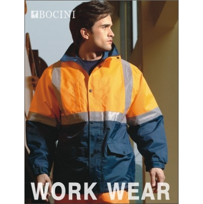 Picture of Unisex Adults Hi-Vis Polar Fleece Lined Jacket With Reflective Tape