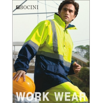 Picture of Unisex Adults Hi-Vis Mesh Lining Jacket With Reflective Tape