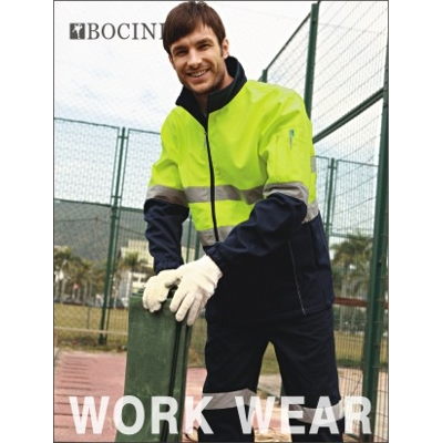 Picture of Unisex Adults Hi-Vis Soft Shell Jacket With Reflective Tape