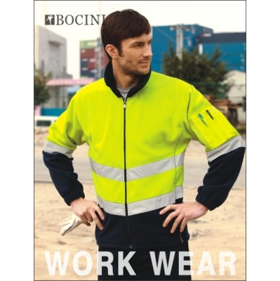 Picture of Unisex Adults Hi-Vis Full Zip Polar Fleece With Reflective Tape