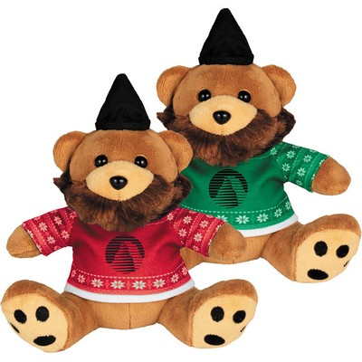 "Picture of Ugly Sweater 6"" Hipster Bear"