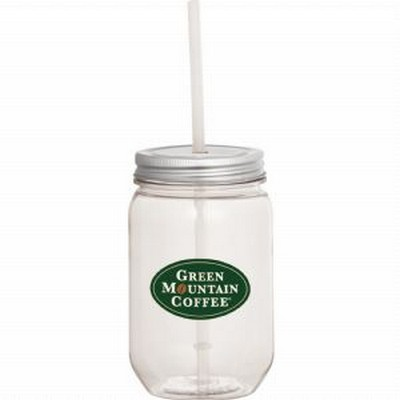 Picture of Mason Jar 22-oz. with Silver Tin Lid