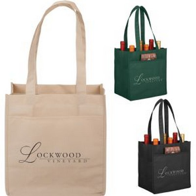 Picture of 6 Pack Non-Woven Wine Tote