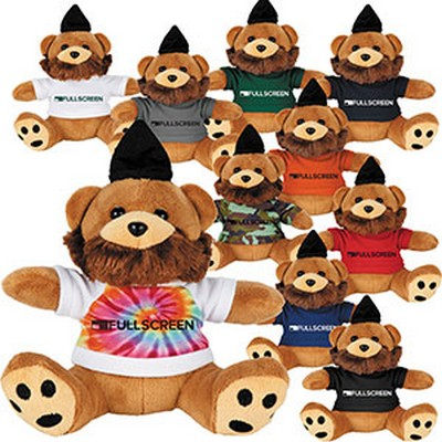 "Picture of 6"" Plush Hipster Bear with Shirt"