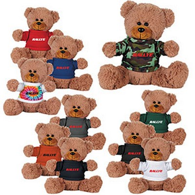 "Picture of 8"" Sitting Plush Bear with Shirt"