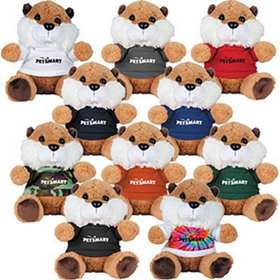 "Picture of 6"" Beaver Plush Animal with Shirt"