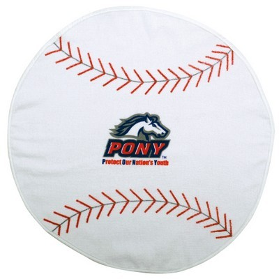 Picture of Baseball Shaped Sports Towel