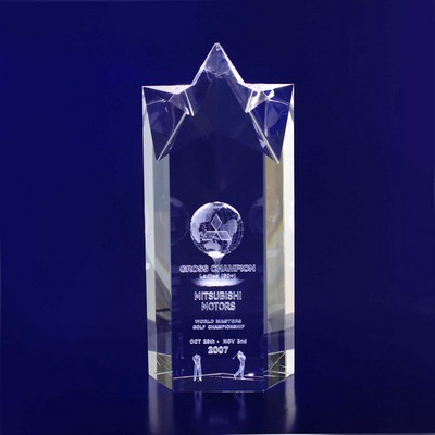 Picture of 3D Crystal Star Point award / trophy