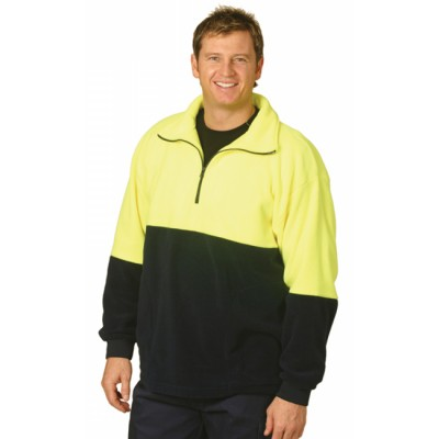 Picture of High Visibility Polar Fleece Half Zip Pullover