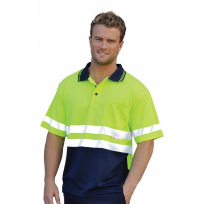Picture of High Visibility Short Sleeve Safety Polo 3M Reflective Tapes