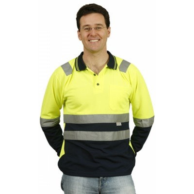 Picture of Mens TrueDry Safety Polo With 3M Reflective Tape
