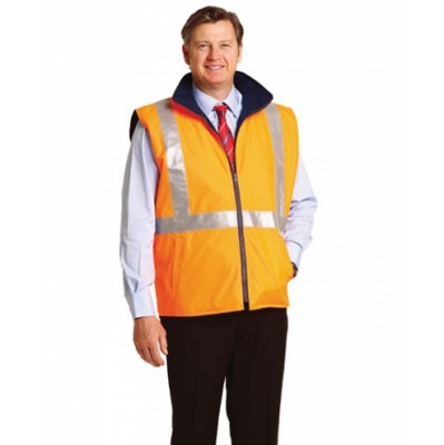 Picture of Hi-Vis Reversible Safety Vest With X Pattern 3M Reflective Tapes Shell 100% Polyester Oxford 300 D w