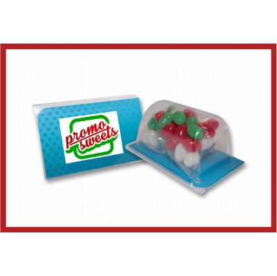 Picture of Biz card treat with Christmas mini jellybeans