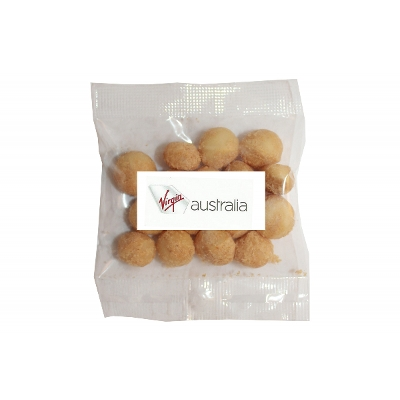Picture of 30g Wasabi Macadamias with label