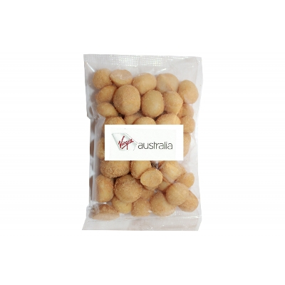 Picture of 100g Wasabi Macadamias with label