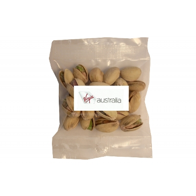 Picture of 30g Roasted Salted Pistachio Australian Jumbo with label