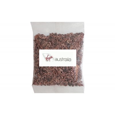 Picture of 50g Cacao Nibs Raw Organic with label