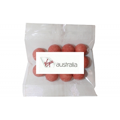 Picture of 30g Strawberry yoghurt balls bag with label
