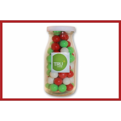 Picture of Christmas choc balls in jar with label