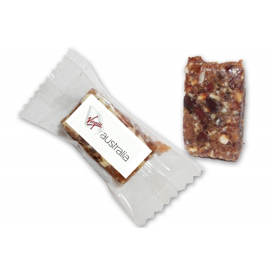 Picture of Individually wrapped Apricot & Almond Healthy Bite 25g with label